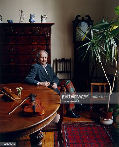 Author Alexander McCall Smith poses for a portrait shoot in London UK