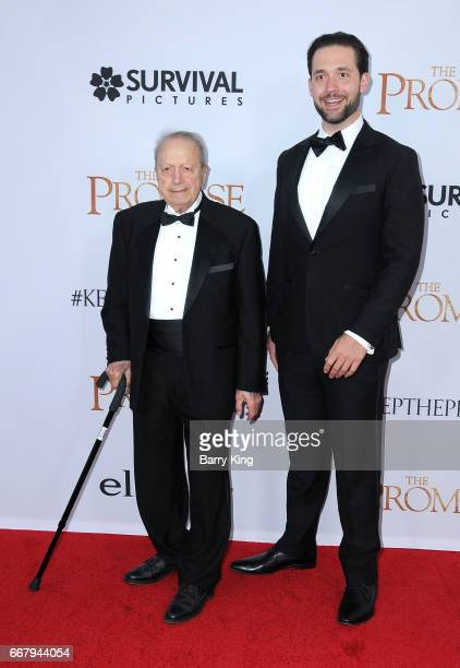 Author Alexis Ohanian and grandfather John Ohanian attend premiere of Open Road Films' 'The Promise' at TCL Chinese Theatre on April 12 2017 in...