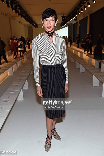 Author Amy Fine Collins attends the Altuzarra fashion show during New York Fashion Week September 2016 at Spring Studios on September 11 2016 in New...