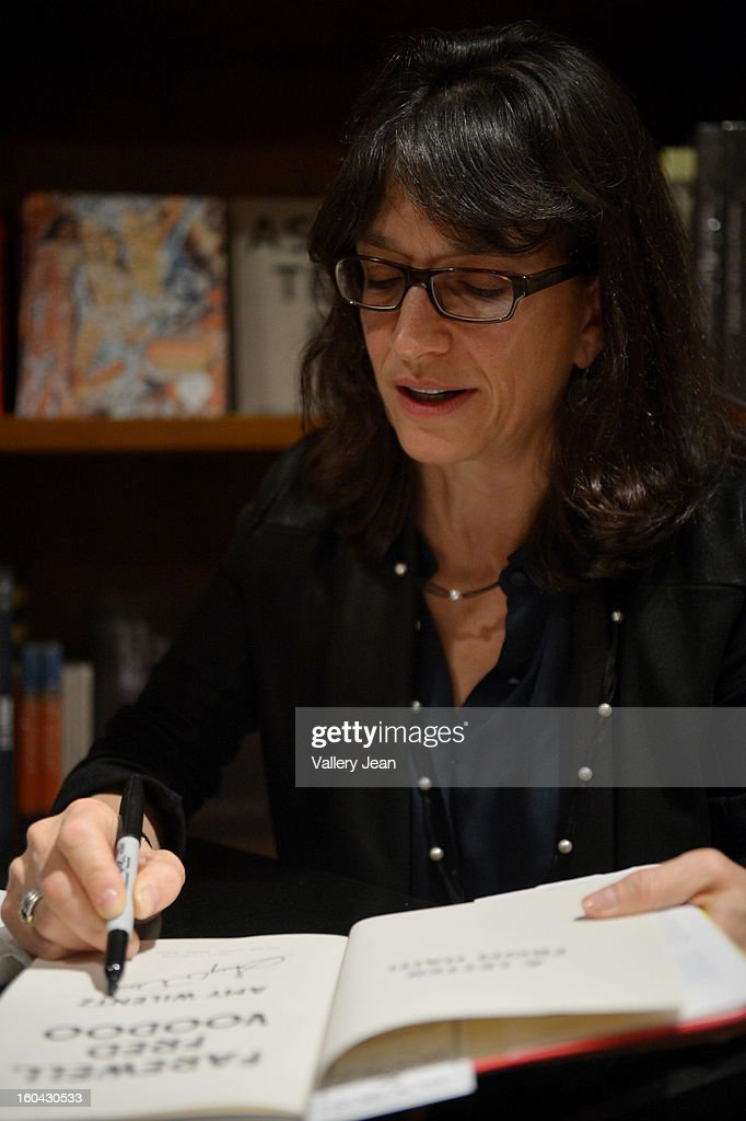 Author Amy Wilentz signs copies of her book 'Farewell, Fred Voodoo' at Books and Books on January 30, 2013 in Coral Gables, Florida.