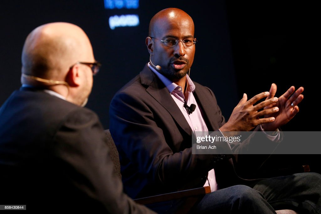 Author and CNN Commentator Van Jones speaks onstage during the 2017 New Yorker TechFest at Cedar Lake on October 6, 2017 in New York City.