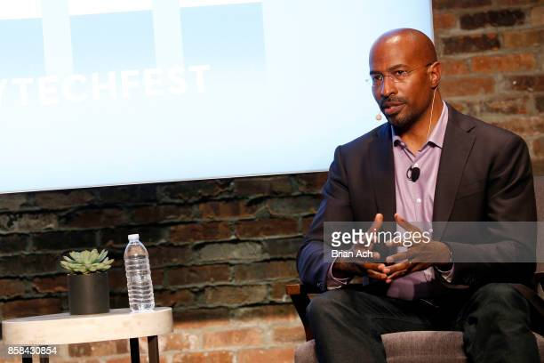 Author and CNN Commentator Van Jones speaks onstage during the 2017 New Yorker TechFest at Cedar Lake on October 6 2017 in New York City