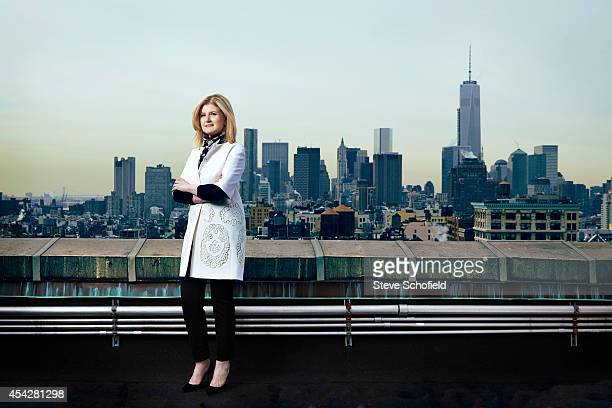 Author and columnist Arianna Huffington is photographed for The Times on March 4 2014 in New York City