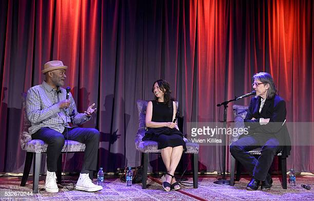 Author and filmmaker Nelson George recording artist Susanna Hoffs of The Bangles and Vice President at The GRAMMY Foundation Scott Goldman speak at...