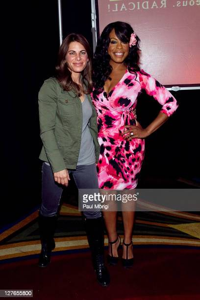 Author and Fitness Trainer Jillian Michaels poses for a photo with Niecy Nash at the 3rd Annual Get RADICAL Women's Conference at Renaissance...