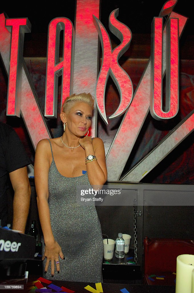 Author and former adult entertainment actress <a gi-track='captionPersonalityLinkClicked' href=/galleries/search?phrase=Jenna+Jameson&family=editorial&specificpeople=206496 ng-click='$event.stopPropagation()'>Jenna Jameson</a> appears at Tabu at the MGM Grand Hotel/Casino on January 19, 2013 in Las Vegas, Nevada.