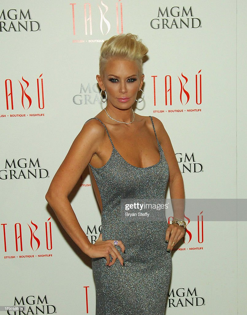 Author and former adult entertainment actress Jenna Jameson arrives at Tabu at the MGM Grand Hotel/Casino on January 19, 2013 in Las Vegas, Nevada.