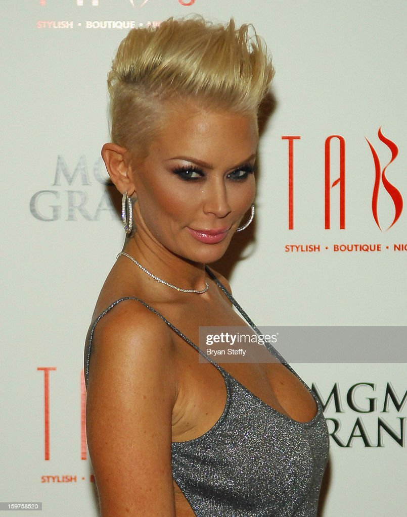 Author and former adult entertainment actress <a gi-track='captionPersonalityLinkClicked' href=/galleries/search?phrase=Jenna+Jameson&family=editorial&specificpeople=206496 ng-click='$event.stopPropagation()'>Jenna Jameson</a> arrives at Tabu at the MGM Grand Hotel/Casino on January 19, 2013 in Las Vegas, Nevada.