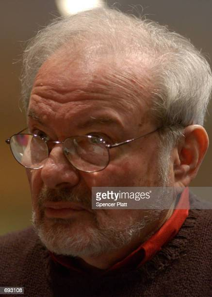 Author and illustrator Maurice Sendak speaks with the press January 11 2002 before the opening of an exhibition entitled 'Maurice Sendak In His Own...