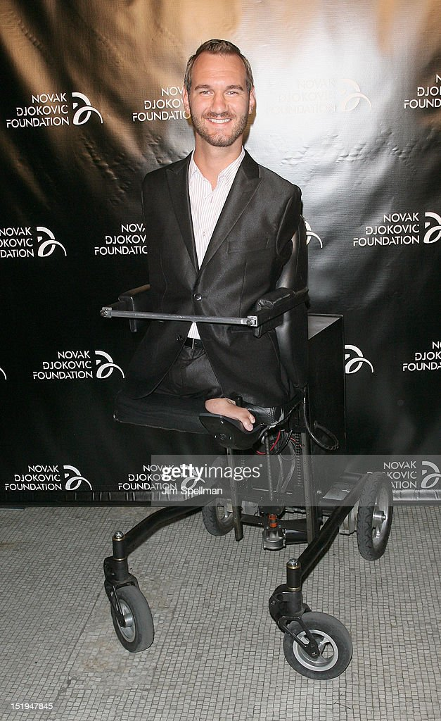 Author and Motivational Speaker <a gi-track='captionPersonalityLinkClicked' href=/galleries/search?phrase=Nick+Vujicic&family=editorial&specificpeople=5126580 ng-click='$event.stopPropagation()'>Nick Vujicic</a> attends The Novak Djokovic Foundation's inaugural dinner at Capitale on September 12, 2012 in New York City.