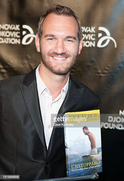 Author and Motivational Speaker Nick Vujicic attends The Novak Djokovic Foundation's inaugural dinner at Capitale on September 12 2012 in New York...