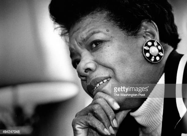 FILE Author and poet Maya Angelou poses for a portrait in Washington DC on December 15 1992