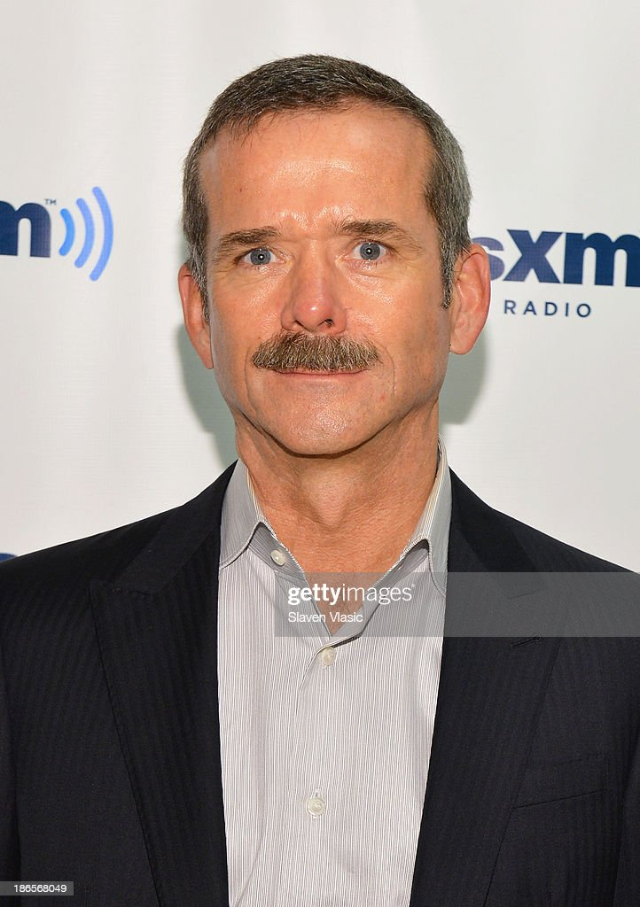 Author and retired Canadian astronaut Chris Hadfield visits SiriusXM Studios on November 1, 2013 in New York City.