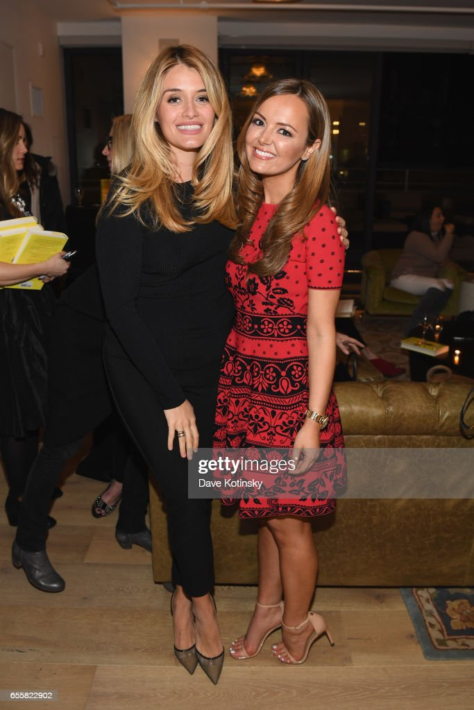 Author and TV host Daphne Oz, poses with Nicole Lapin at a private party to celebrate the release of Nicole Lapin's second book 'BOSS BITCH' at a private residence on March 20, 2017 in New York City.