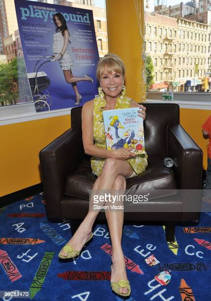 Author and TV personality Kathy Lee Gifford promotes her new children's book 'Party Animals' with Divamoms Observer Playground at Azure on May 13...