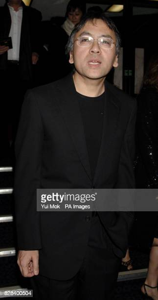Author and writer of the screenplay Kazuo Ishiguro arrives for the UK film premiere of 'The White Countess' at the Curzon Mayfair central London...