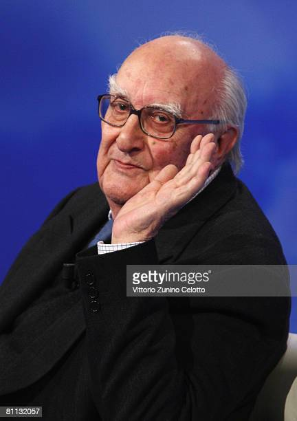 Author Andrea Camilleri appears on the 'Che Tempo Che Fa' TV show at RAI studios on May 17 2008 in Milan Italy