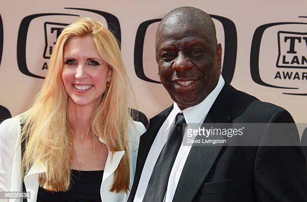 Author Ann Coulter and actor Jimmie Walker attend the 8th Annual TV Land Awards at Sony Studios on April 17 2010 in Culver City California