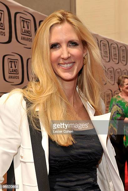 Author Ann Coulter arrives at the 8th Annual TV Land Awards at Sony Studios on April 17 2010 in Los Angeles California