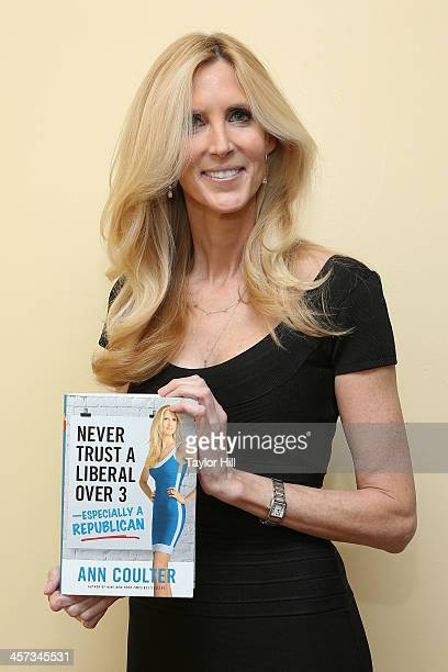 Author Ann Coulter attends her book signing event at Women's National Republican Club on December 16 2013 in New York City