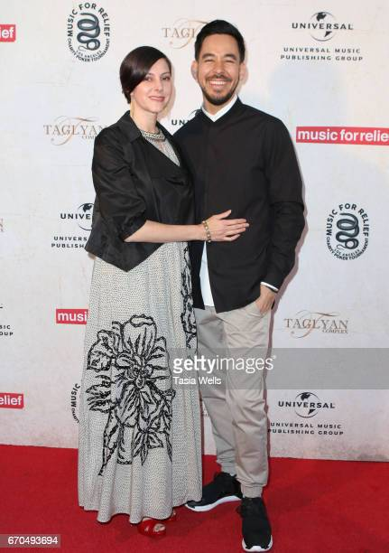 Author Anna Shinoda and Mike Shinoda of Link Park attend Linkin Park's Music for Relief Charity Poker Tournament at Taglyan Cultural Complex on April...