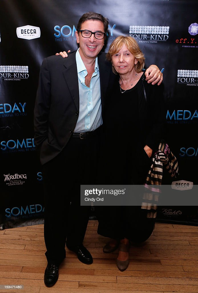 Author Antonio Monda and producer Elda Ferri attend the 'Someday This Pain Will Be Useful To You' New York Screening after party at Kiehl's Since 1851 Flagship Store on October 5, 2012 in New York City.