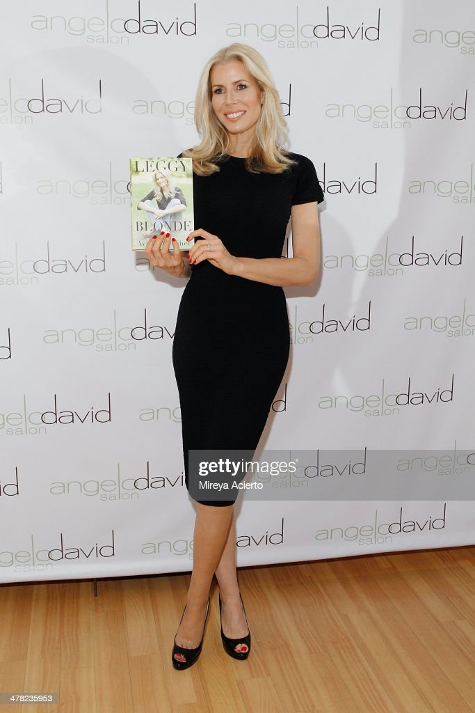 Author Aviva Drescher attends the 'Leggy Blonde' Book Event at Angelo David Salon on March 12, 2014 in New York City.