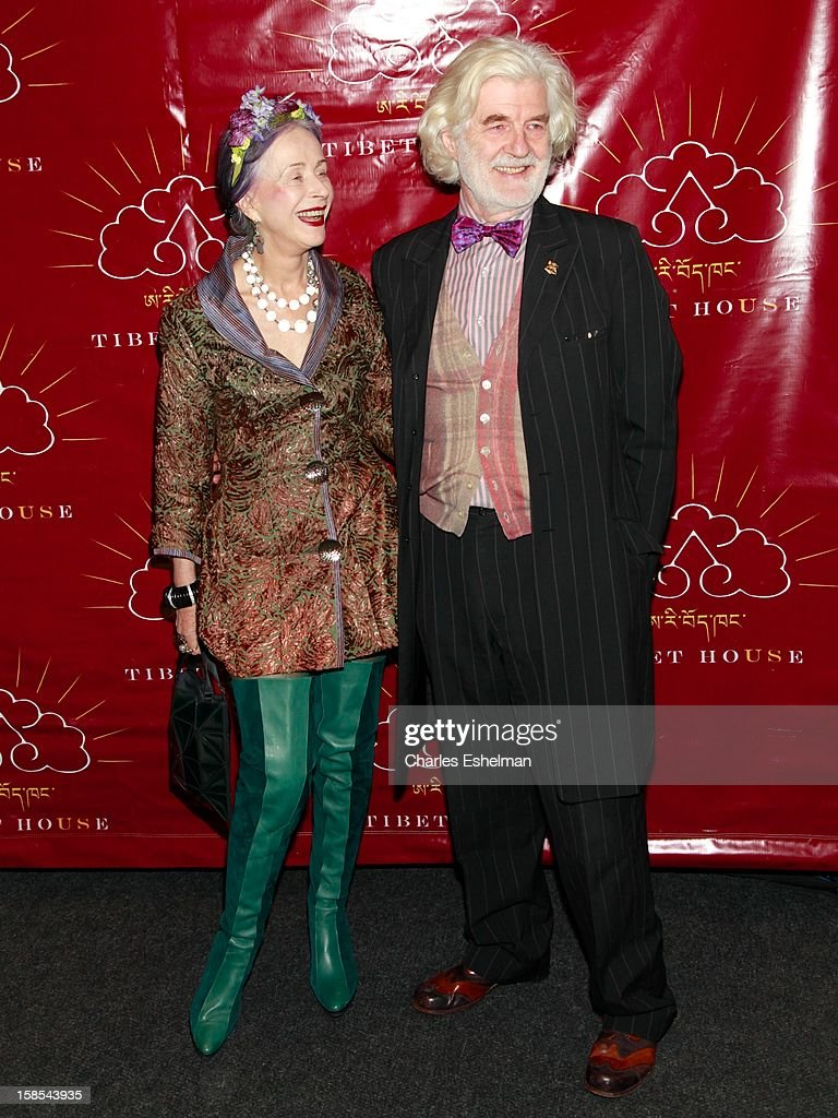 Author Beatrix Ost and Ludwig Hutner attend the 10th annual Tibet House Benefit Auction at Christie's Auction House on December 18, 2012 in New York City.