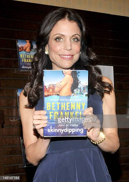 Author Bethenny Frankel arrives at Barnes Noble bookstore at The Grove to sign copies of her new book 'Skinnydipping' on May 23 2012 in Los Angeles...