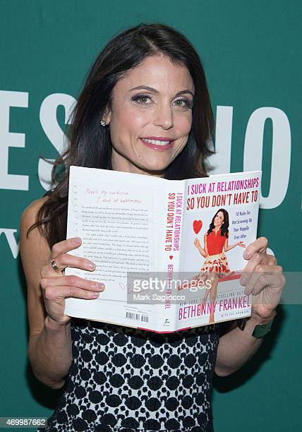 Author Bethenny Frankel during her book signing 'I Suck At Relationships So You Don't Have To 10 Rules For Not Screwing Up Your Happily Ever After'...