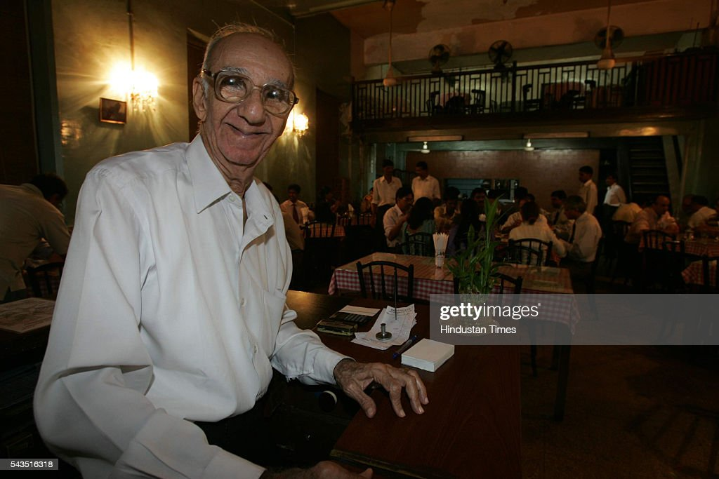 Author Boman Kohinoor, owner of Cafe Britania, Ballard Estate on July 22, 2005 in Mumbai, India.