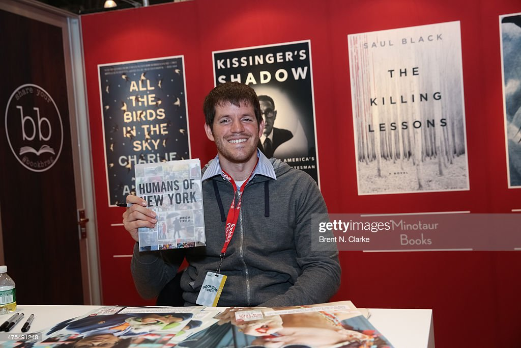 Author <a gi-track='captionPersonalityLinkClicked' href=/galleries/search?phrase=Brandon+Stanton&family=editorial&specificpeople=10514754 ng-click='$event.stopPropagation()'>Brandon Stanton</a> poses for photographs with his newest book during BookCon held at the Javits Center on May 31, 2015 in New York City.