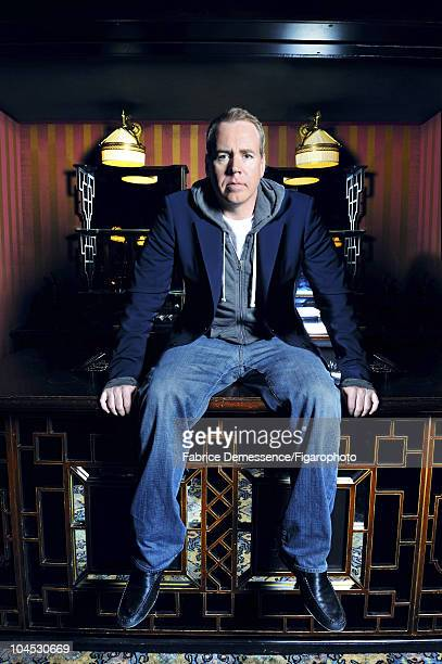 Author Bret Easton Ellis at a portrait session for Le Figaro Magazine in Paris in 2010 at Hotel Coste Image ID028 CREDIT MUST READ Fabrice...