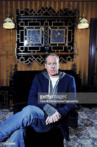 Author Bret Easton Ellis at a portrait session for Le Figaro Magazine in Paris in 2010 at Hotel Coste Image ID022 CREDIT MUST READ Fabrice...