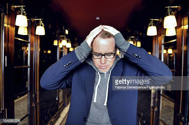 Author Bret Easton Ellis at a portrait session for Le Figaro Magazine in Paris in 2010 at Hotel Coste Image ID002 CREDIT MUST READ Fabrice...