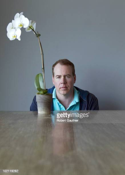 Author Brett Easton Ellis poses for a portrait session on June 7 Los Angeles CA Published Image CREDIT MUST READ Robert Gauthier/Los Angeles...