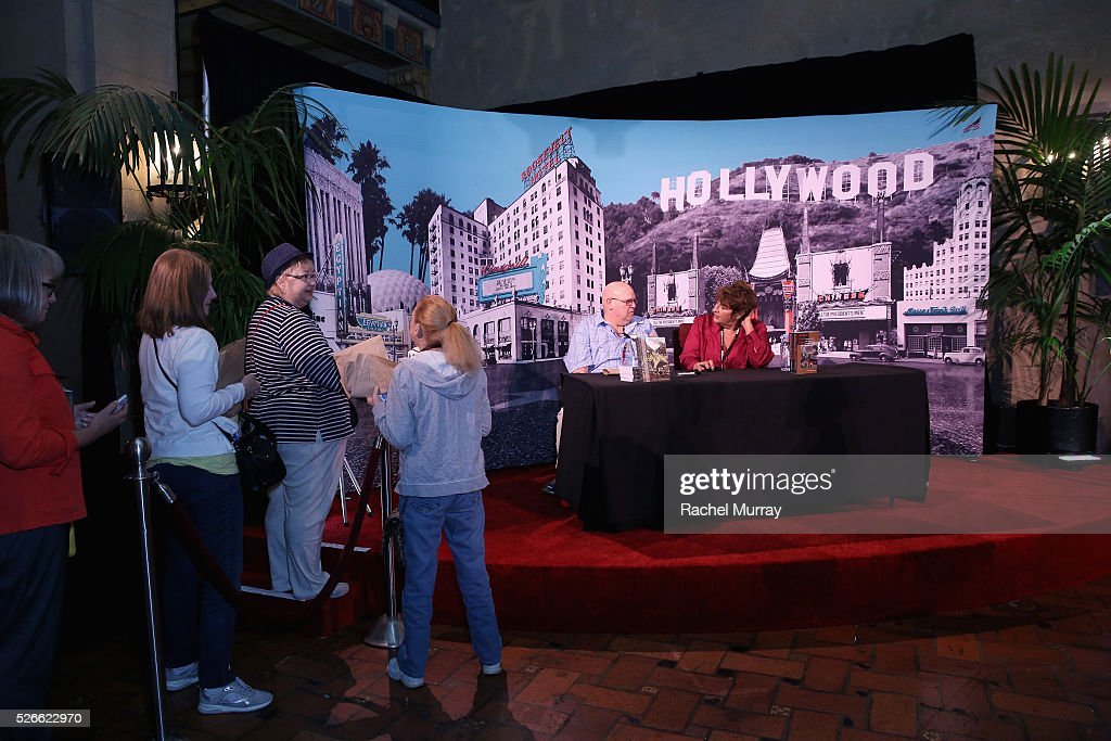 Author Cari Beauchamp (R) attends Cari Beauchamp book signing during day 3 of the TCM Classic Film Festival 2016 on April 30, 2016 in Los Angeles, California. 25826_007
