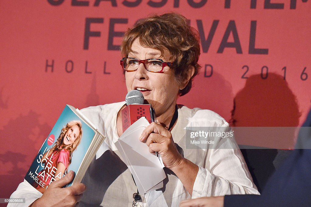 Author Cari Beauchamp speaks onstage at 'Children of a Lesser God' screening during day 4 of the TCM Classic Film Festival 2016 on May 1, 2016 in Los Angeles, California. 25826_008