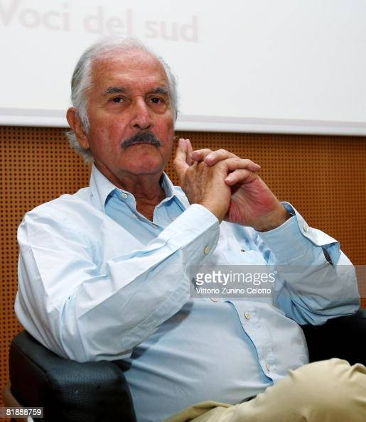 Author Carlos Fuentes attends a cocktail for authors at La Milanesiana 2008 held at Sala Buzzati on July 09 2008 in Milan Italy