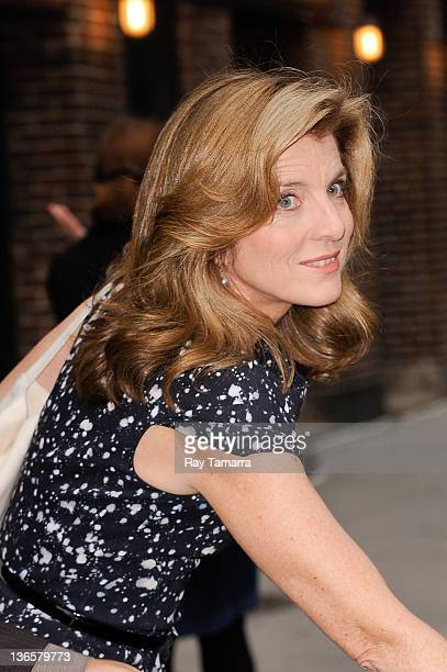 Author Caroline Kennedy leaves the 'Late Show With David Letterman' taping at the Ed Sullivan Theater on May 3 2011 in New York City