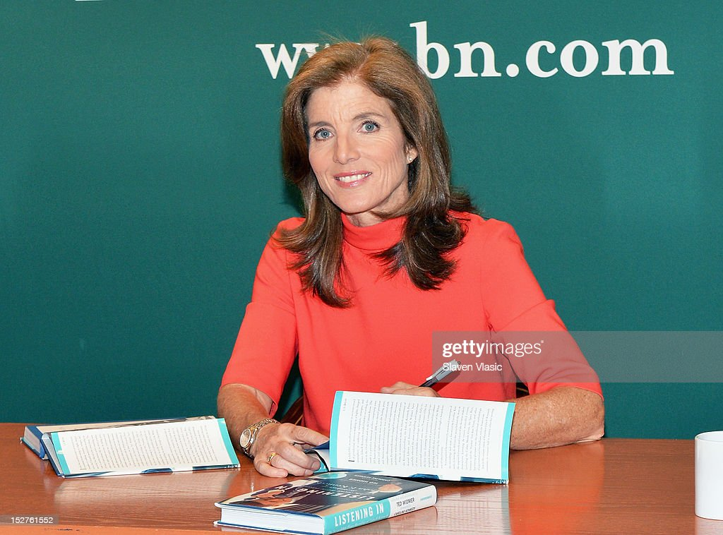 Author <a gi-track='captionPersonalityLinkClicked' href=/galleries/search?phrase=Caroline+Kennedy&family=editorial&specificpeople=93208 ng-click='$event.stopPropagation()'>Caroline Kennedy</a> signs copies of her new book 'Listening In: The Secret White House Recordings Of John F. Kennedy' at Barnes & Noble, 5th Avenue on September 25, 2012 in New York City.