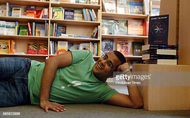 Author Chetan Bhagat at the release of his book One Night @ The Call Center