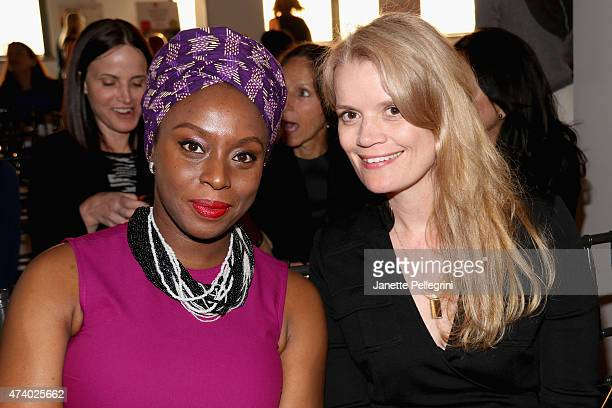 Author Chimamanda Ngozi Adichie and Molly MacDermot attend the Girls Write Now Awards honoring Chimamanda Ngozi Adichie Pamela Paul and Juju Chang at...