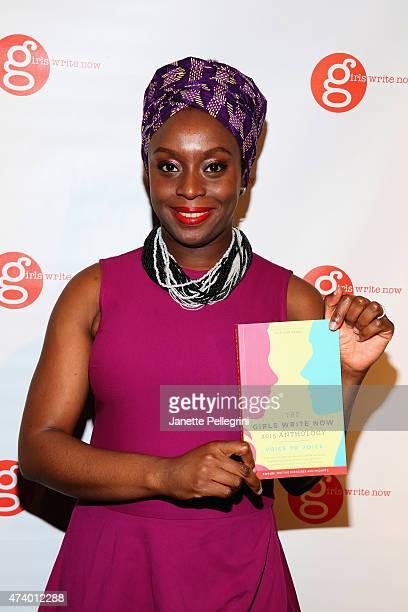 Author Chimamanda Ngozi Adichie attends the Girls Write Now Awards honoring Chimamanda Ngozi Adichie Pamela Paul and Juju Chang at Tribeca 360 on May...