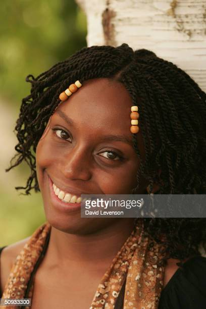 Author Chimamanda Ngozi Adichie who has been nominated for the Orange Prize for Fiction award poses for a portrait at 'The Guardian Hay Festival...