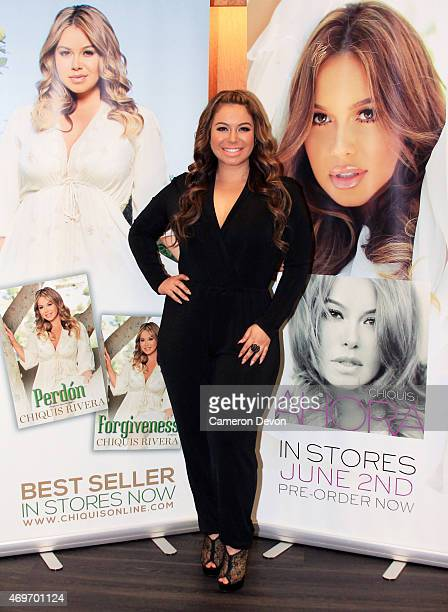 Author Chiquis Rivera attends the Chiquis Rivera Book Signing at Vroman's Bookstore on April 13 2015 in Pasadena California