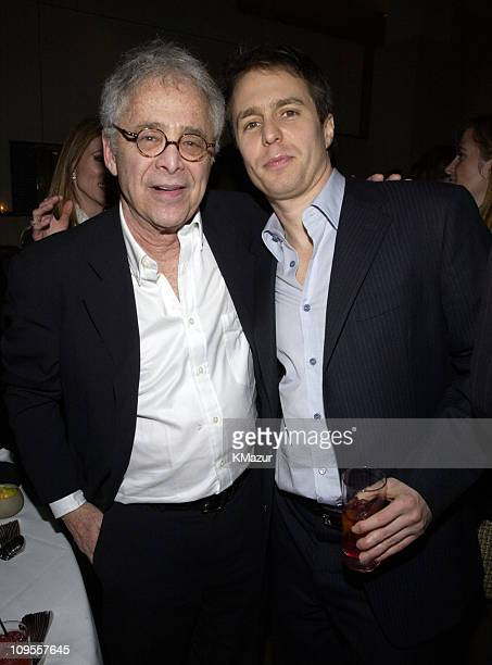 Author Chuck Barris and Sam Rockwell during 'Confessions of A Dangerous Mind' New York Premiere AfterParty at The W Hotel in New York City New York...