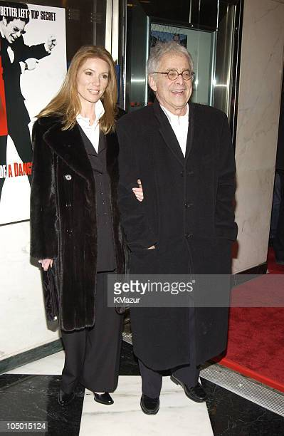 Author Chuck Barris and wife Julie during 'Confessions of A Dangerous Mind' New York Premiere Inside Arrivals at Paris Theater in New York City New...