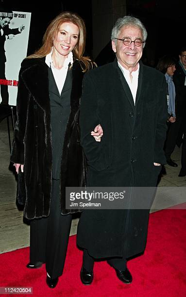 Author Chuck Barris wife Mary during 'Confessions of A Dangerous Mind' New York Premiere Arrivals at Paris Theatre in New York City New York United...