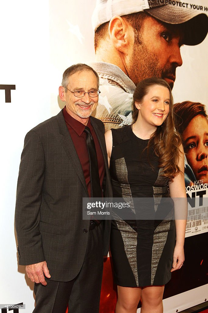 Author Chuck Logan and daughter Sofia Logan arrive at the Las Vegas premiere of Open Road Films''Homefront' at Planet Hollywood Resort & Casino on November 20, 2013 in Las Vegas, Nevada. The movie opens nationwide in the United States on November 27.